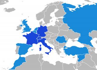 In blu le nazioni con la presenza di locali, mentre in azzurro le nazioni in cui vengono svolte azioni criminali come il riciclaggio e il traffico di droga.
